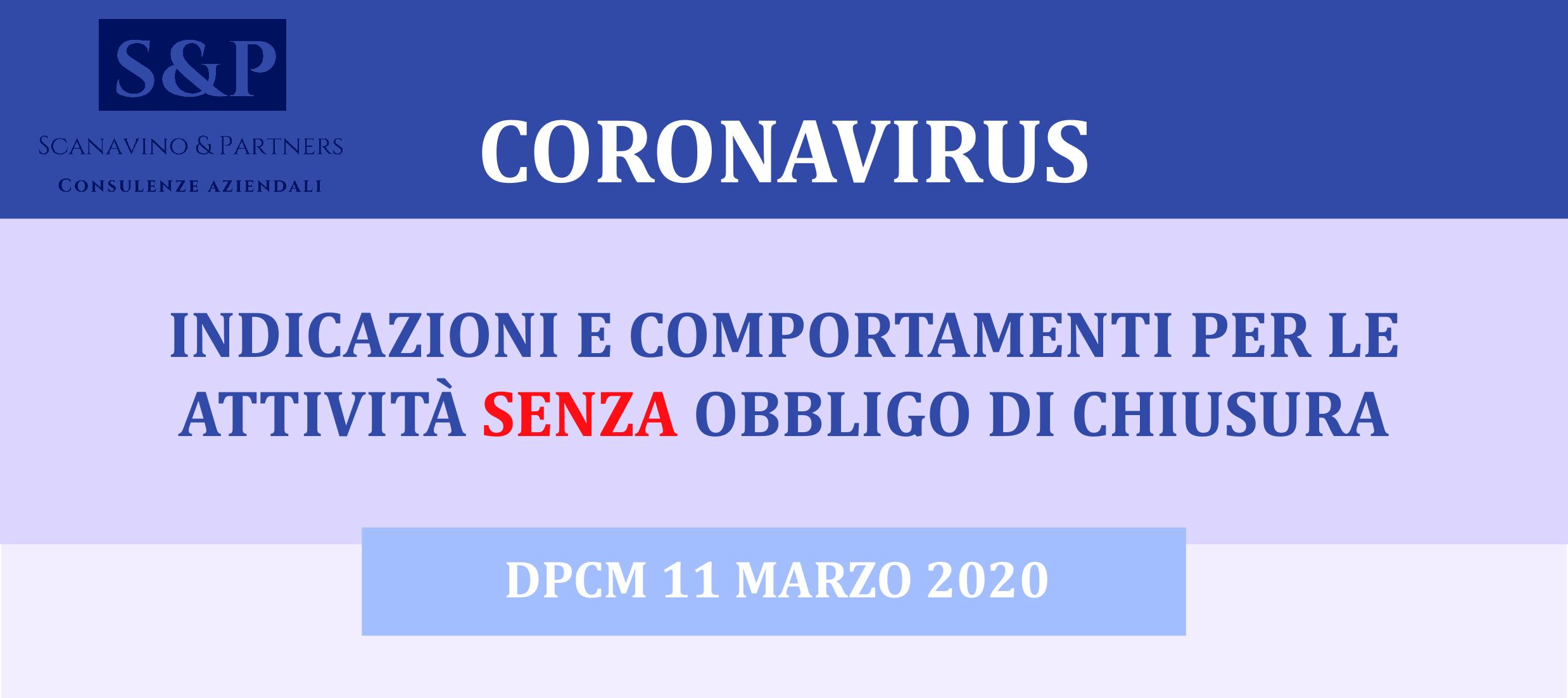 Coronavirus: nuovi aggiornamenti DPCM 11 Marzo 2020
