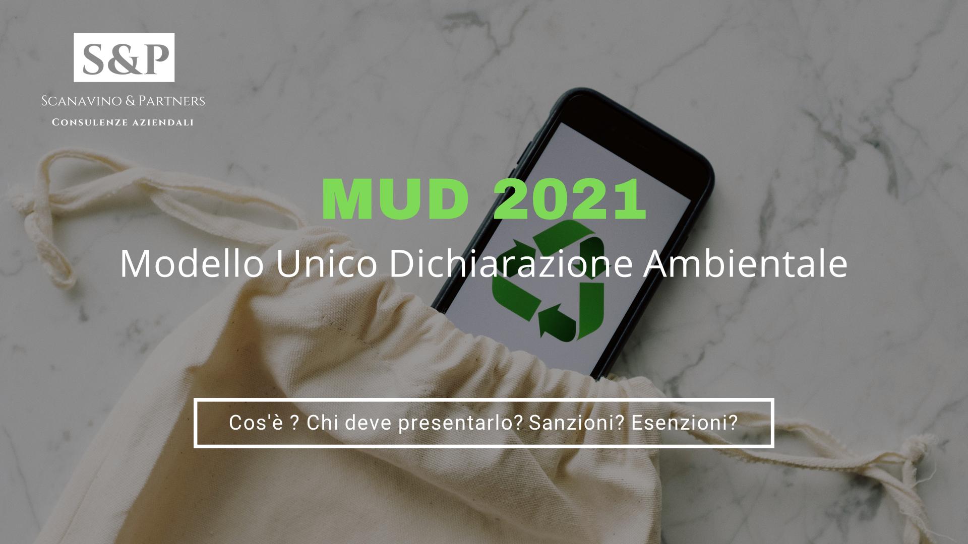 MUD 2021- Guida per la Dichiarazione Ambientale